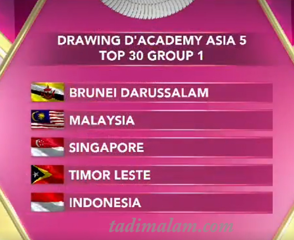 Pembagian Group DAC Asia 5 Top 30 Besat Group 1