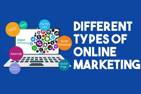 What are Different types of Online Marketing in Hindi