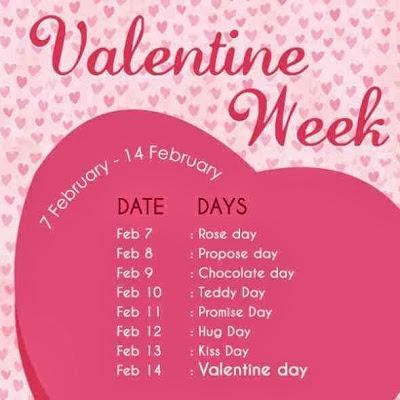 Valentine S Week Days List 2017 Valentine Week Days List