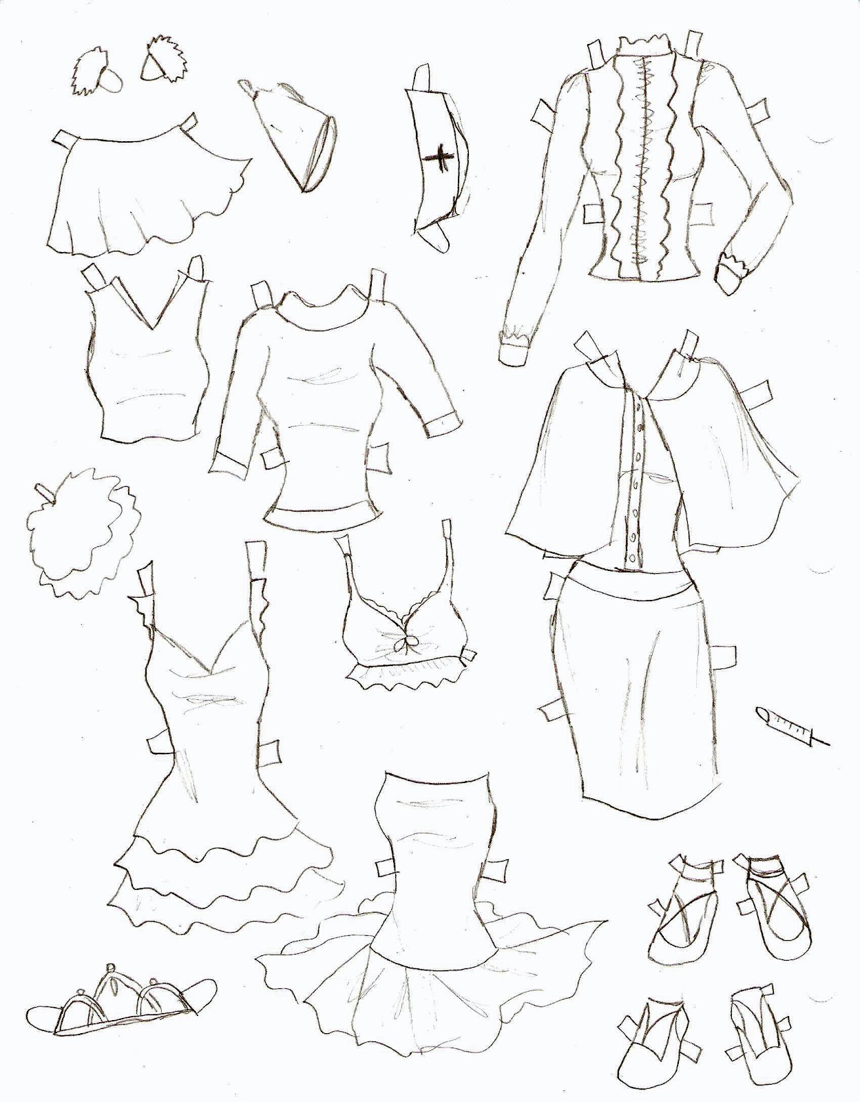 Miss Missy Paper Dolls Lucy Clothes 5