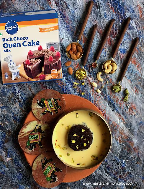 Chocolate Cake Rasmalai Recipe