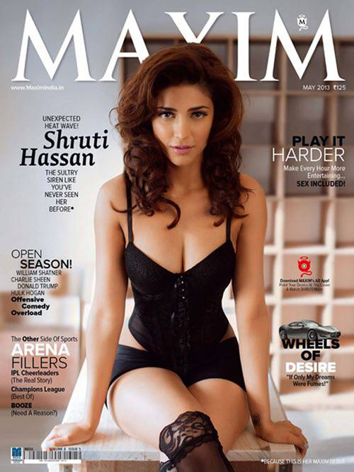 Shruti Hassan Exposes Hot Images Photo Shoot Maxim Magazine-2906