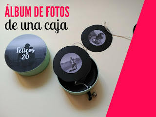 idea de regalo diy album de fotos a partir de una caja