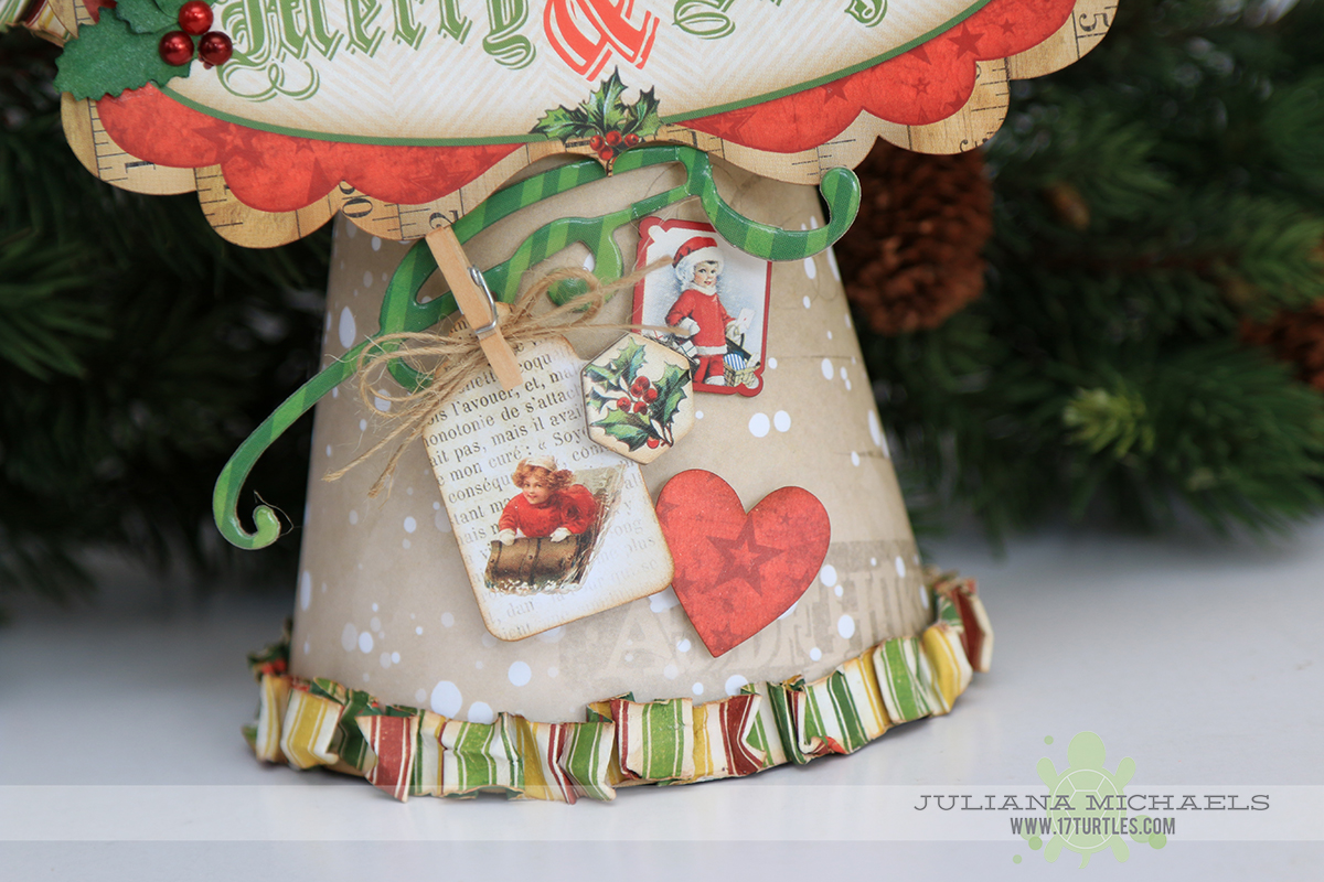 Christmas Angel by Juliana Michaels using BoBunny Christmas Collage and Darice Paper Mache Angel Kit