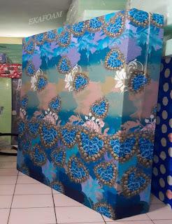 Kasur inoac motif bunga love tosca