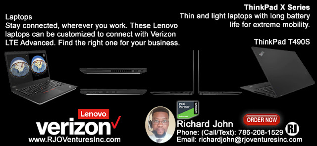 Connect your Lenovo devices on Verizon's 4G LTE network with LTE Advanced [RJOVenturesInc.com]