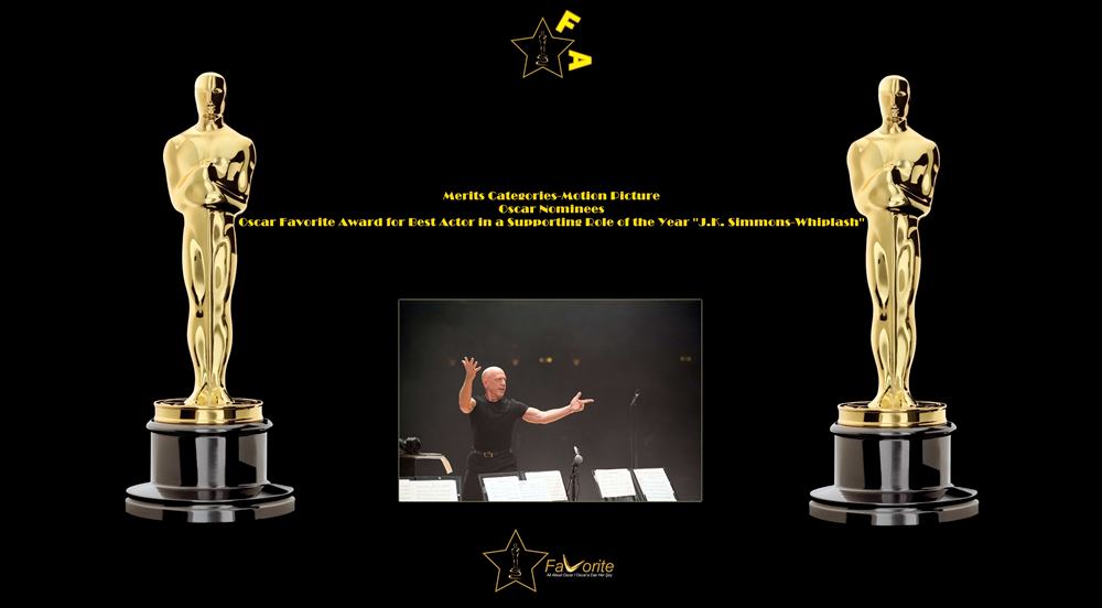oscar favorite best actor in a supporting role award jk simmons whiplash