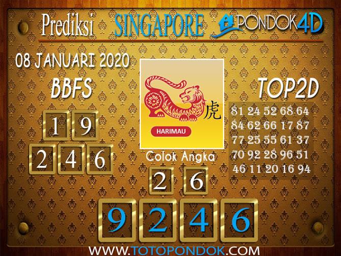 Prediksi Togel SINGAPORE PONDOK4D 08 JANUARI 2020