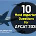 Most Important Questions for AFCAT 2020