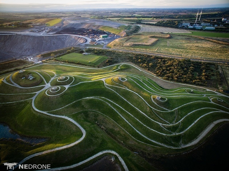 And the views you can get while walking around the land sculpture are pretty unbelievable. - An Ariel View Of These Mysterious Lines Reveals A Naughty Secret.