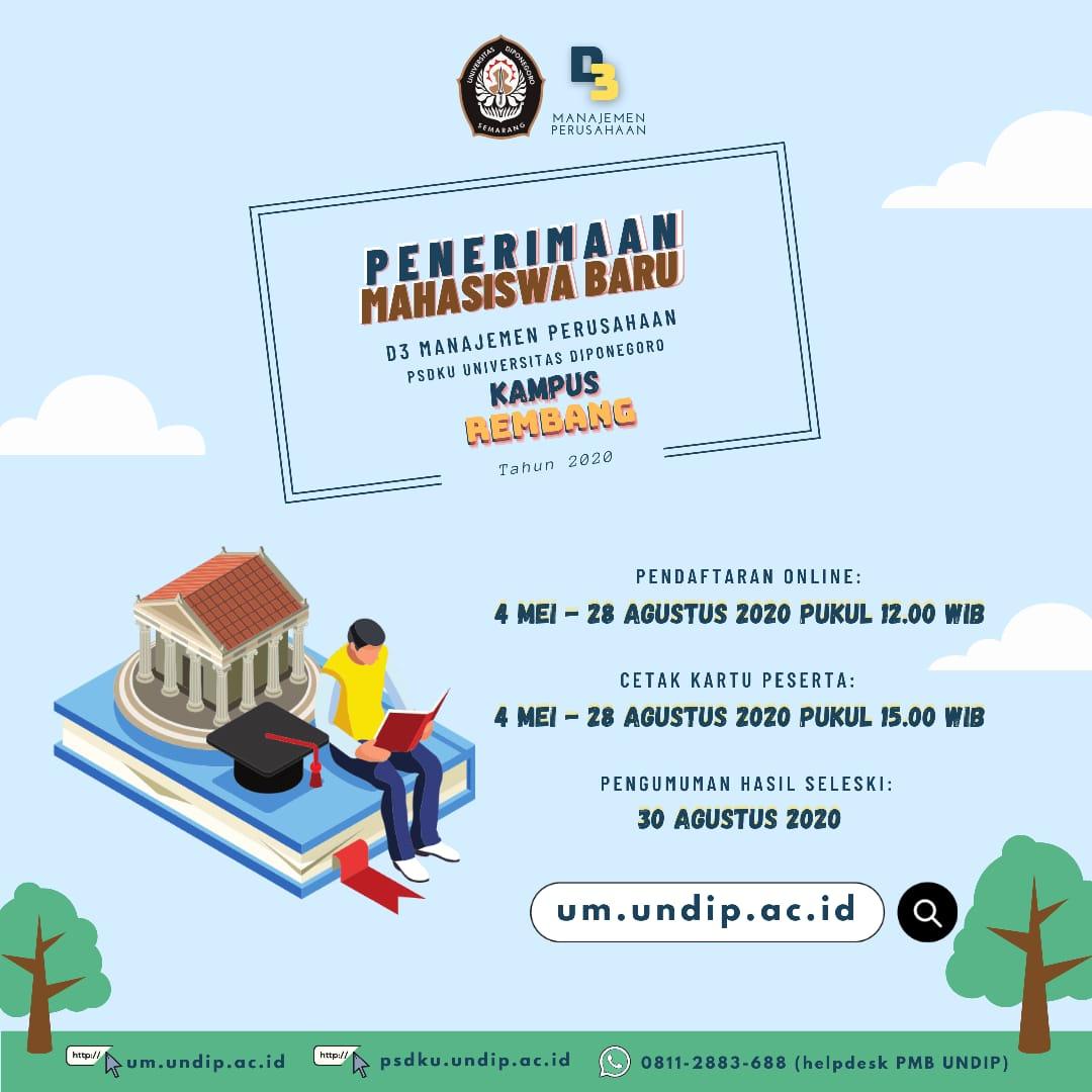 Penerimaan Mahasiswa Baru UNDIP (Universitas Diponegoro) Kampus Rembang Tahun 2020