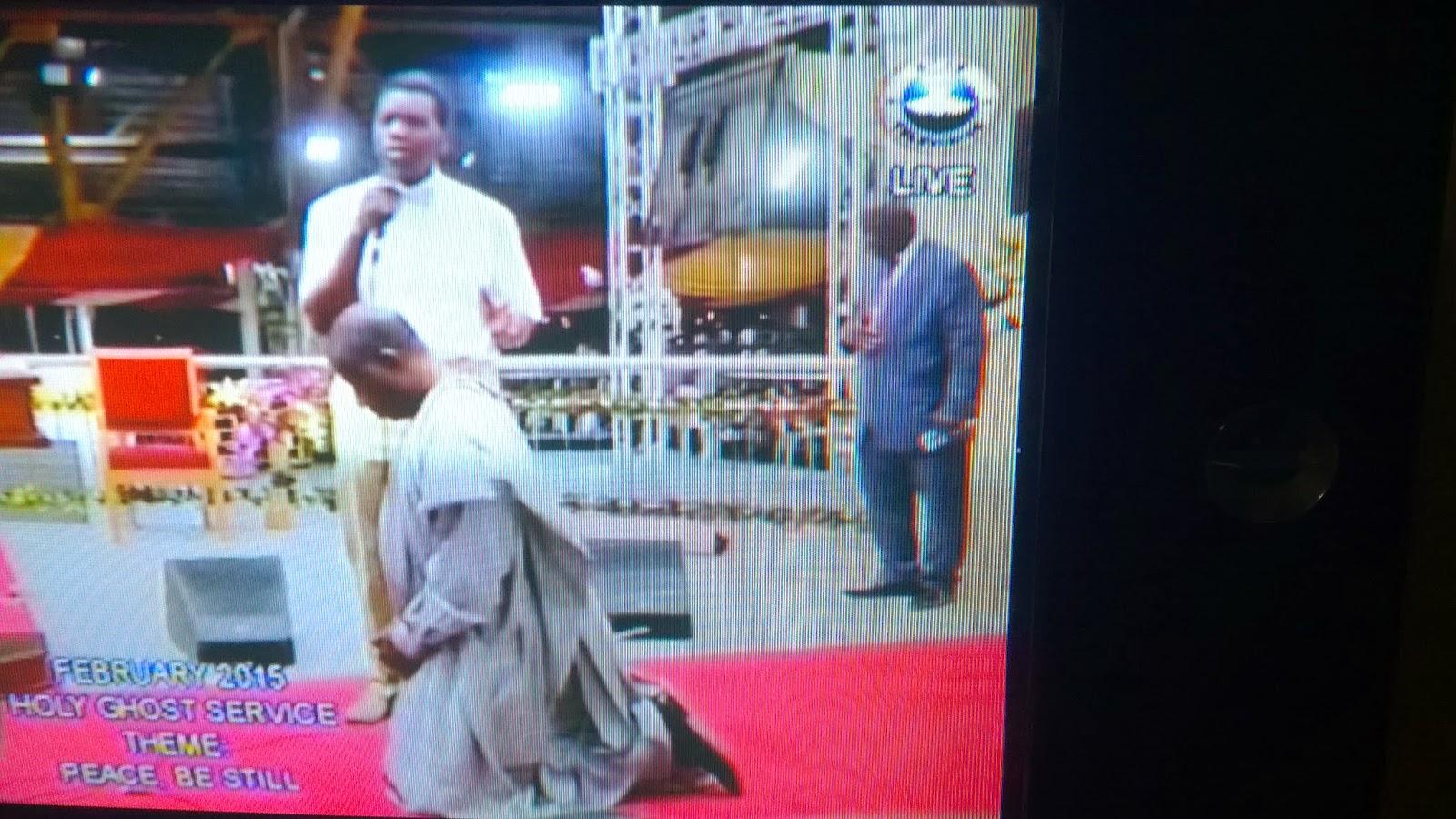 Goodluck Jonathan visits RCCG Holyghost service, shakes.