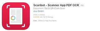 تطبيق Scanbot لتصوير المستندات