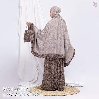 Mukena Mahaputri Lawasan Kuno Motif 04 - By Qallila Moslem ID - WA 083840666699