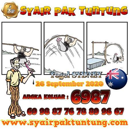Syair Pak Tuntung Sydney Sabtu 26 September 2020