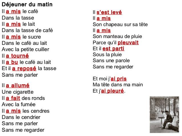 Jaime Sek Poème Déjeuner Le Matin