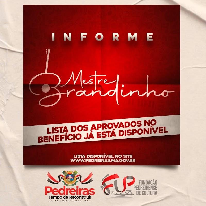 Sai a lista de artistas pedreirenses aprovados para receberem o Auxílio Emergencial Mestre Brandinho.