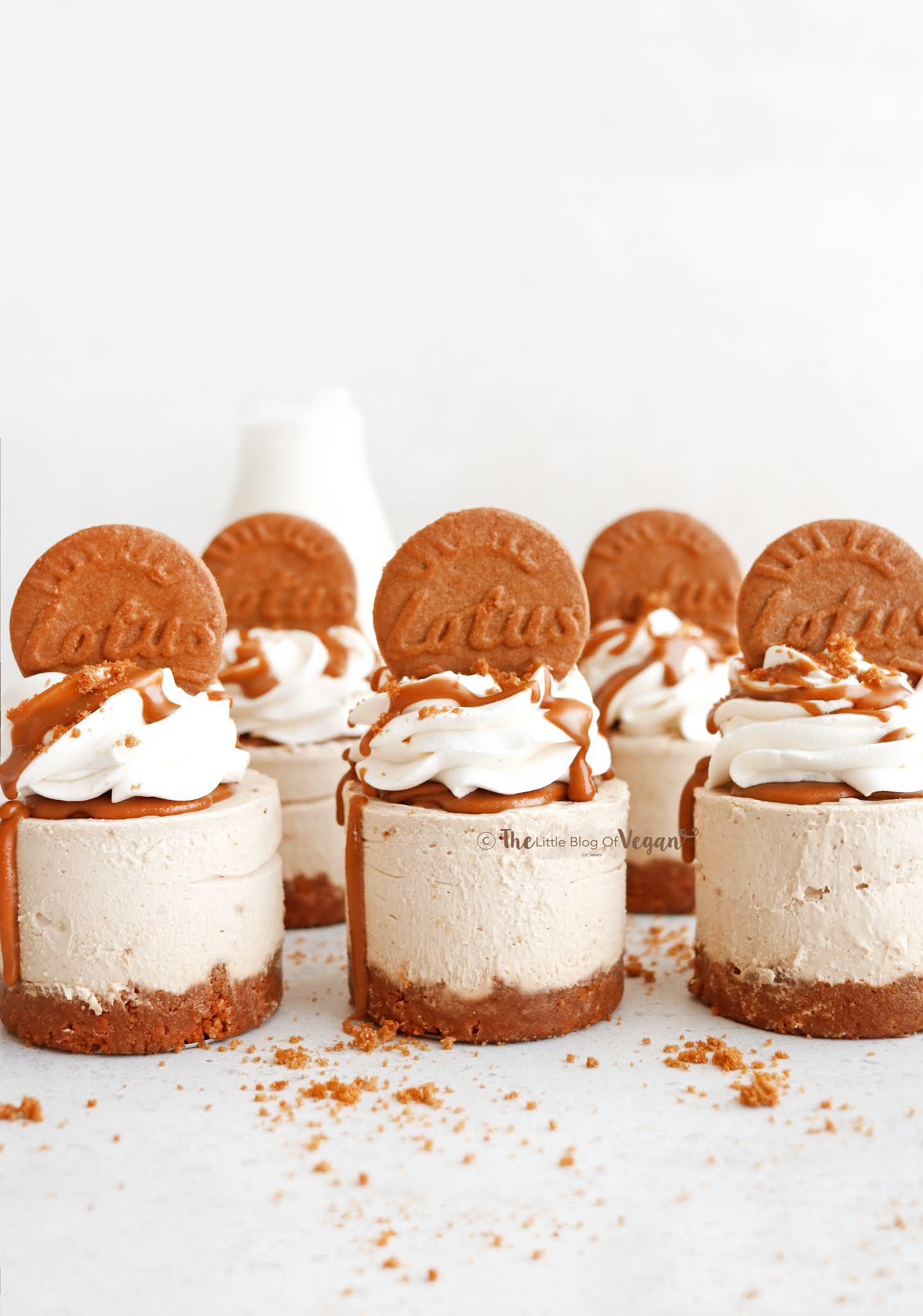 Mini biscoff cheesecakes
