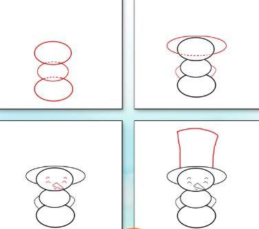 رسم رجل الثلج