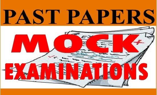 MOCK EXAMINATION TANZANIA (TAMONGSCO, TAHOSA ETC.)