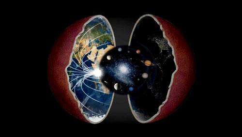 نظرية الارض المجوفه