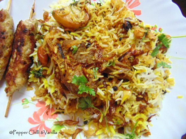 easy mutton biryani recipe,how to make memoni mutton biryani