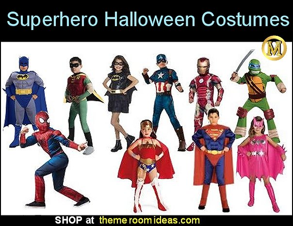 Superhero Halloween Costumes Batman Costumes  Captain America Costumes Spider-man Costumes Superman Wonder Woman