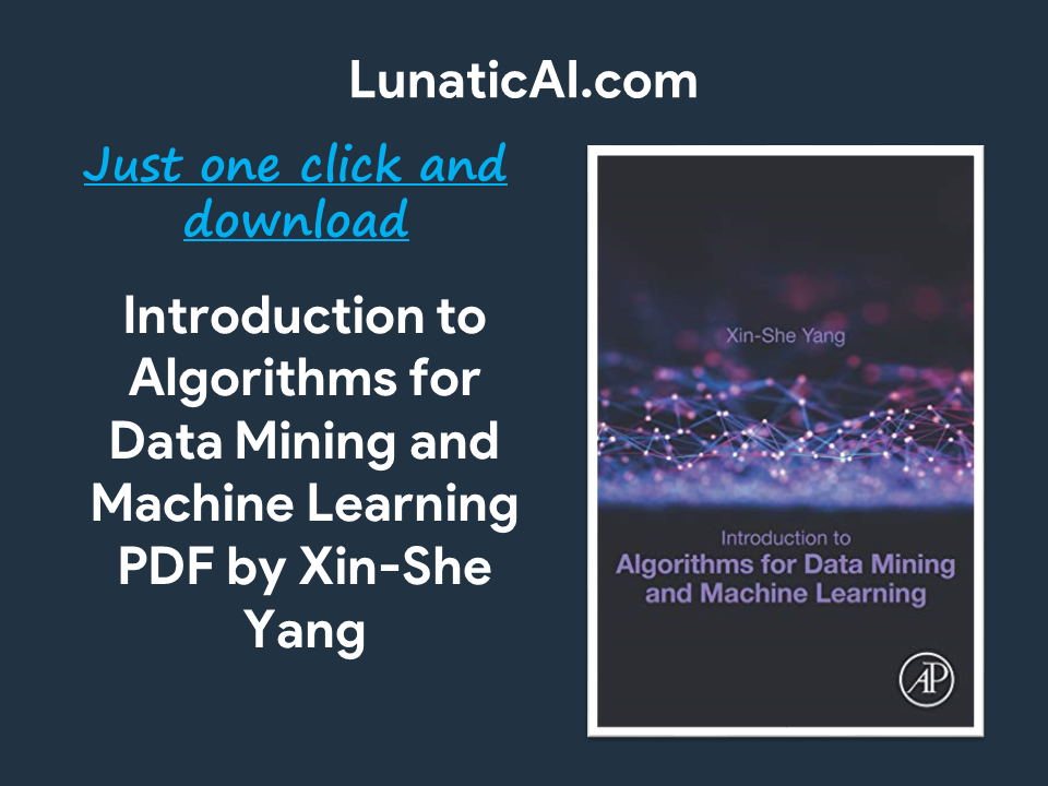 Introduction to Algorithms for Data Mining and Machine Learning PDF