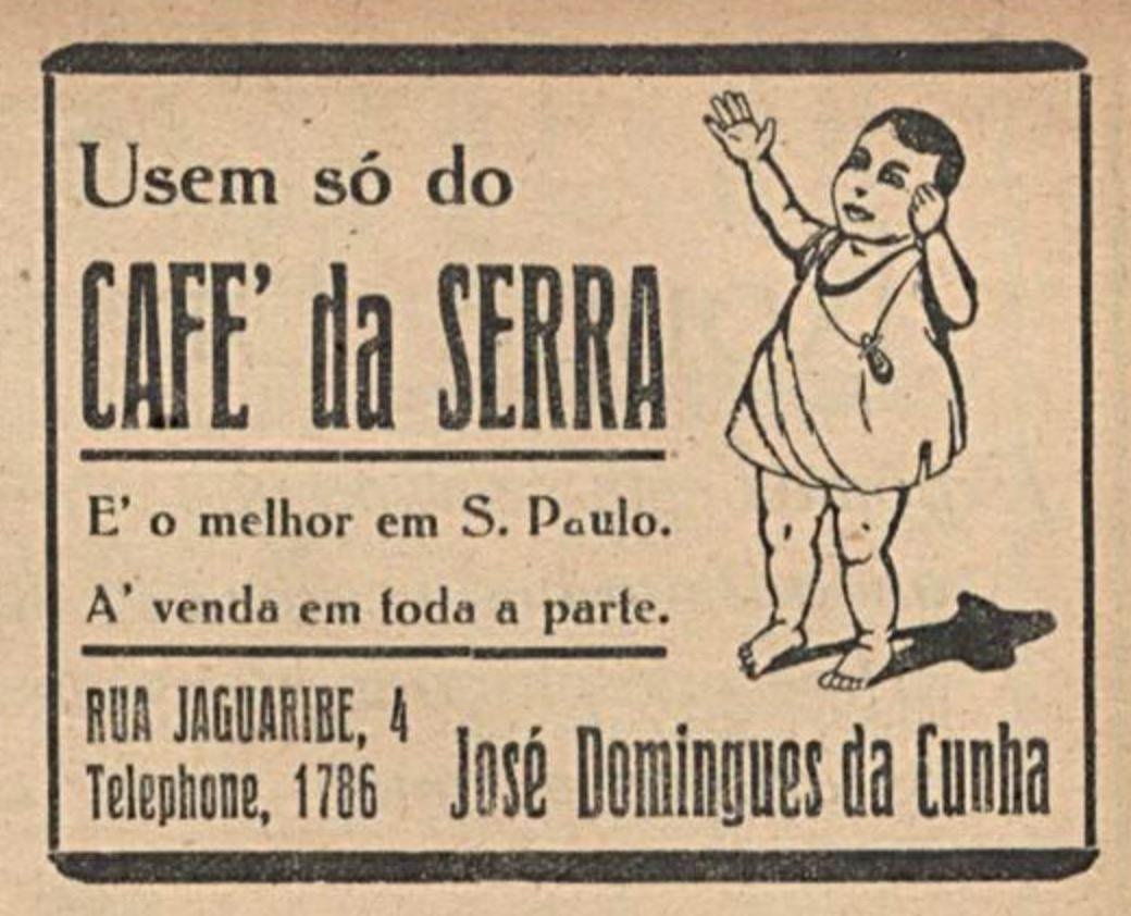 Propaganda antiga do Caé da Serra veiculada em 1917