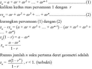 Perbedaan baris dan deret geometri