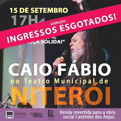 Caio Fábio no Teatro Municipal em Niterói