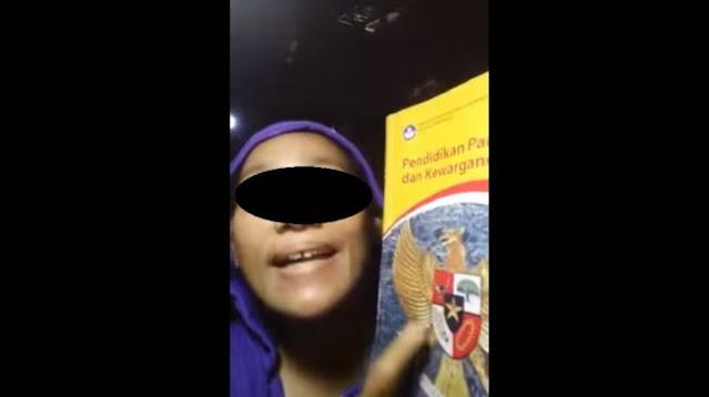 Lagi! Viral Video Wanita Sebut Pancasila Sampah, Publik Murka