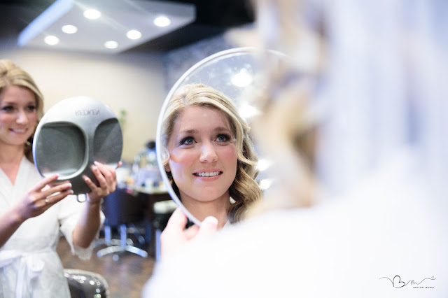 bride getting ready at salon bliss