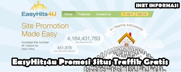 EasyHits4u Promosi Situs Traffik Gratis - Promosikan Situs Anda kepada anggota EasyHits4u. Situs Gratis, mudah digunakan, dan dipahami,