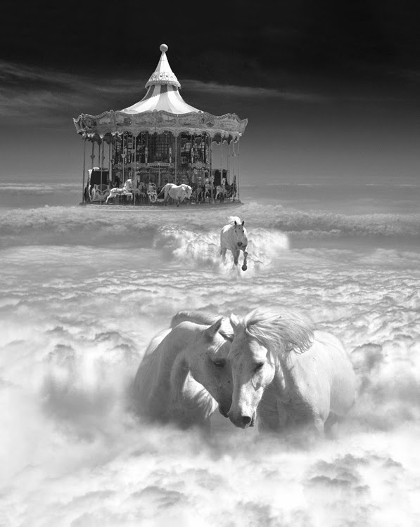 19-Horsing-Around-Thomas-Barbèy-Black-and-White-Surreal-Photography-www-designstack-co