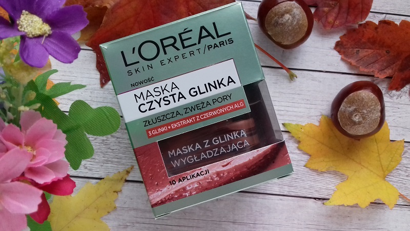 Złuszczająco-wygładzająca maseczka L'Oréal -czysta glinka