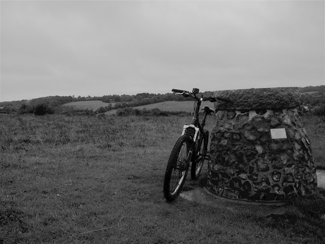 black and white bike on the hill