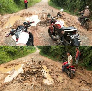 Lapor Gubernur, Masyarakat Tiyuh Margo Dadi Mengeluh Kondisi Jalan Rusak Parah