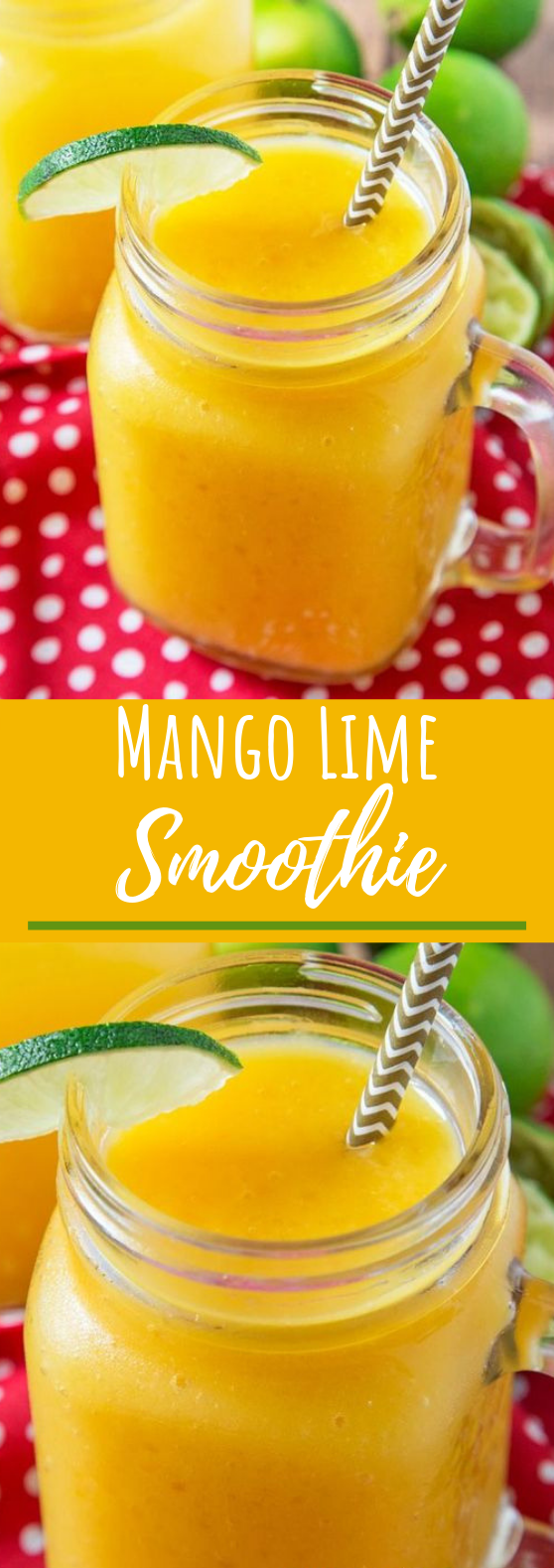 Mango Lime Smoothie #drinks #smoothies