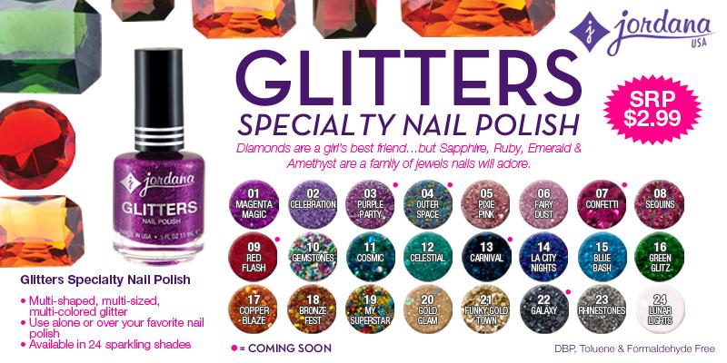 Aquaheart: Preview: Jordana Cosmetics Glitters Specialty Nail Polish