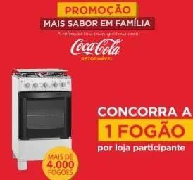 Promoção Coca-Cola Retornável Fogão Por Loja - Mais Sabor em Família