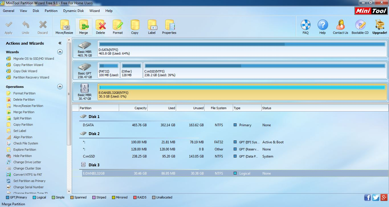 Daniel Cheah Blog: Windows 7 - MiniTool Partition Wizard