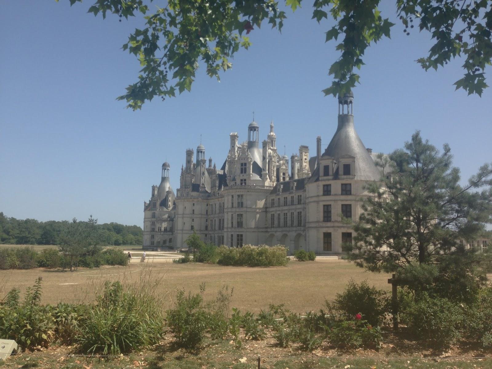 zamek w Chambord, trasa rowerowa nad Loarą