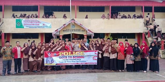 Police Go To School, Kasat SABHARA Polres Tanjung Balai Himbau Pelajar Taati Peraturan dan tata Tertib Disekolah