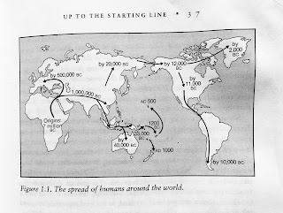 Page 37. Figure 1.1. The spread of humans around the world.