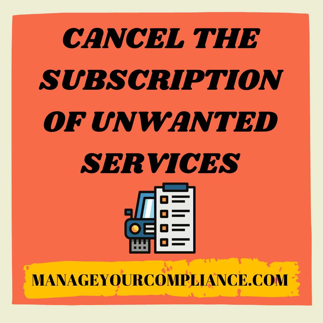 Cancel the subscription of unwanted services in another way to manage your money