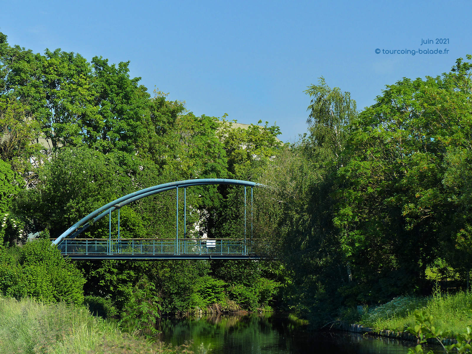 Marque canalisée, pont monpalsir, Marcq-en-Baroeul