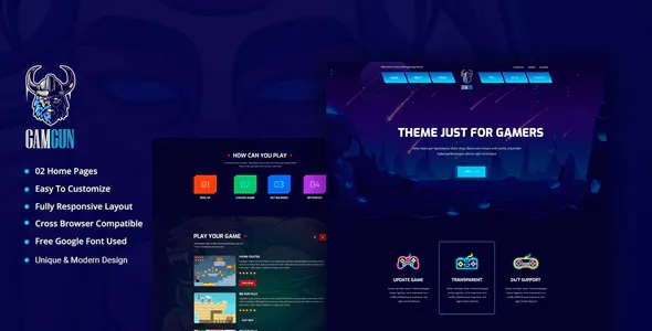 Best Online Gaming HTML Template