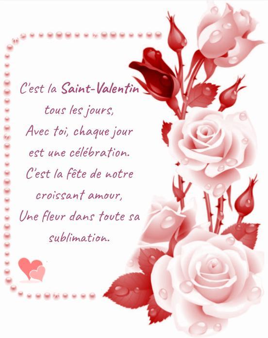 Ma lettre d'amour pour la Saint-Valentin