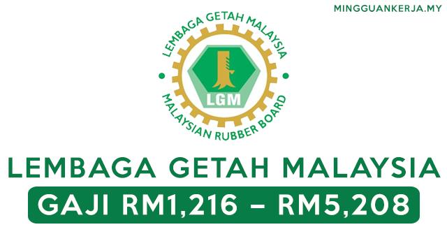 Minima PMR / PT3 Layak Mohon Jawatan Terkini di Lembaga Getah Malaysia ~ GAJI RM1,216.00 – RM5,208.00